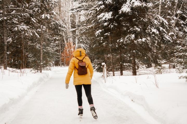 Patinage en forêt : une patinoire pas comme lesautres